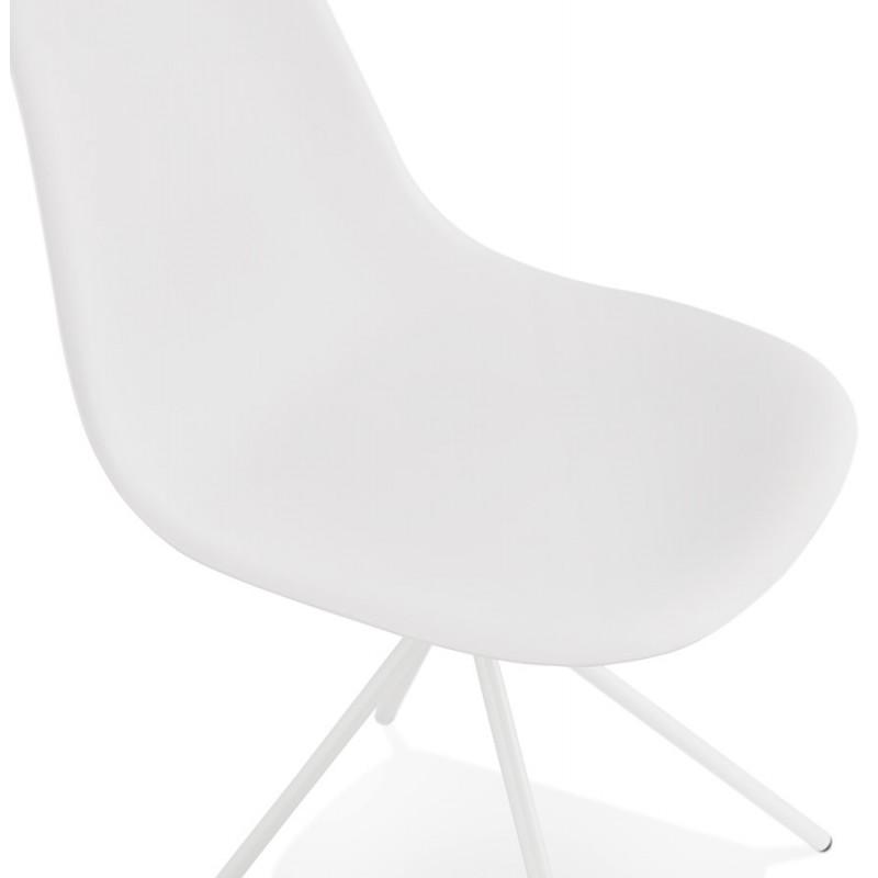 Chaise design industrielle pieds métal blanc MELISSA (blanc) - image 47778