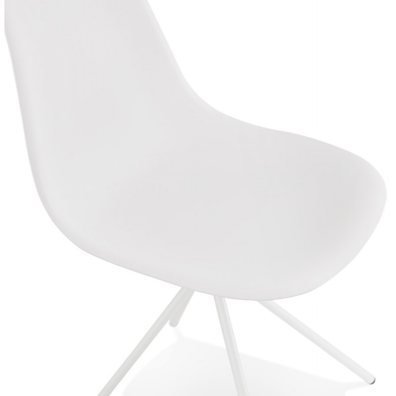Design industriale piedi sedia bianco metallo bianco MELISSA (bianco) - image 47778