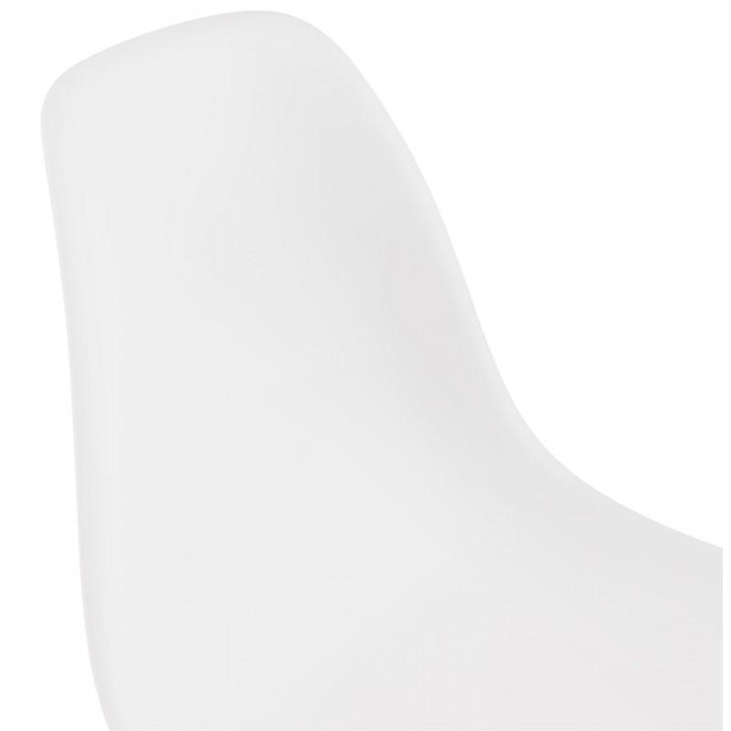 Chaise design industrielle pieds métal blanc MELISSA (blanc) - image 47780