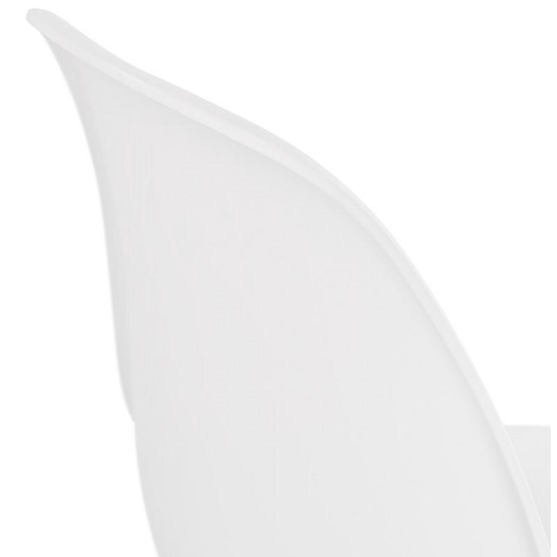 Chaise design industrielle pieds métal blanc MELISSA (blanc) - image 47784