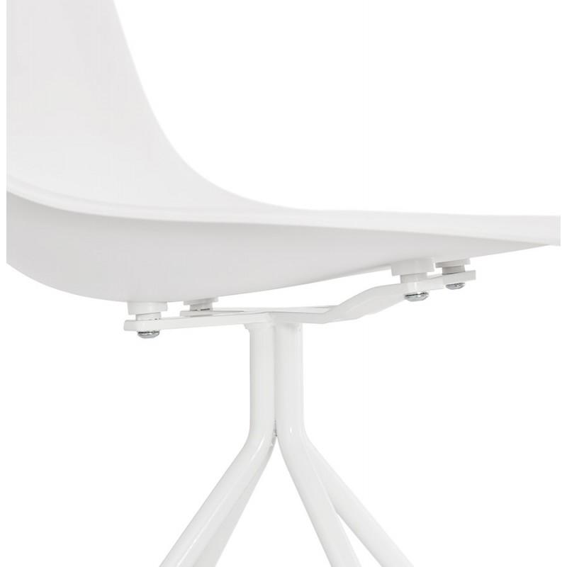 Chaise design industrielle pieds métal blanc MELISSA (blanc) - image 47786