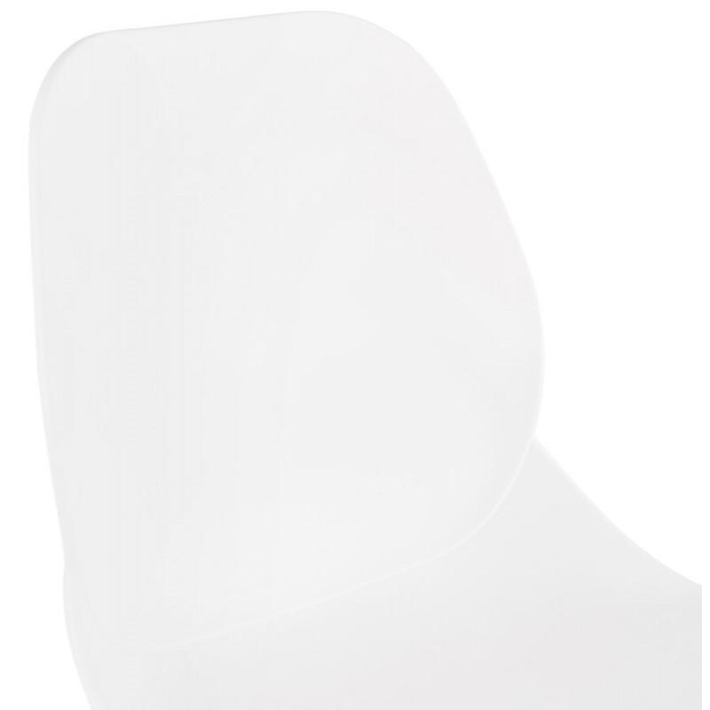 Chaise design empilable pieds métal blanc MALAURY (blanc) - image 47800