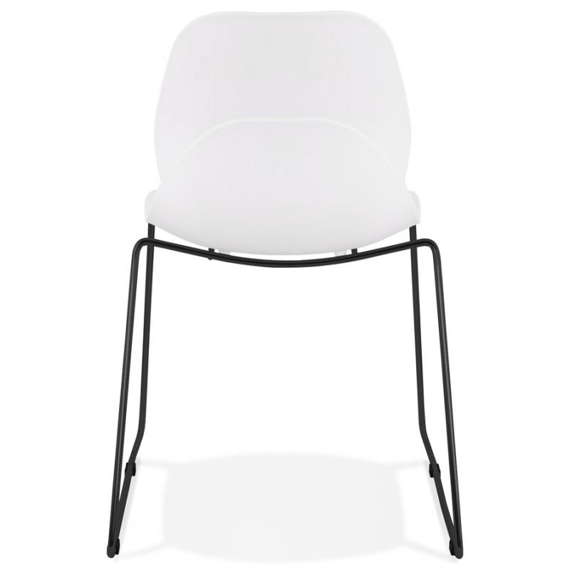 Chaise design empilable pieds métal noir MALAURY (blanc) - image 47855