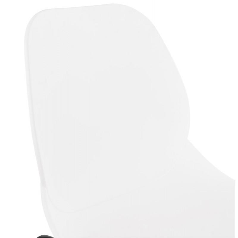 Chaise design empilable pieds métal noir MALAURY (blanc) - image 47856