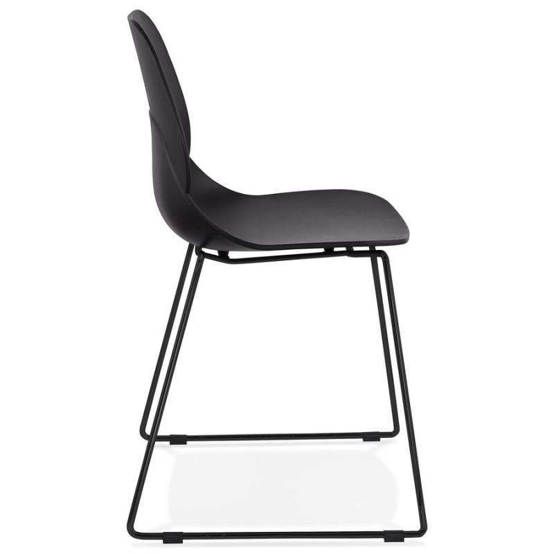 Chaise design empilable pieds métal noir MALAURY (noir) - image 47862