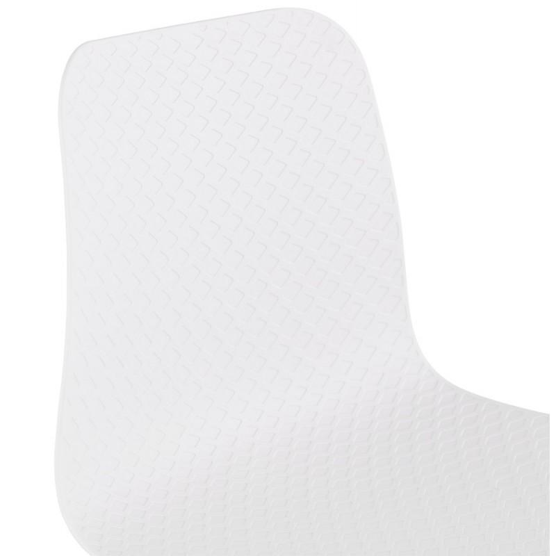 Chaise moderne empilable pieds métal noir ALIX (blanc) - image 47883