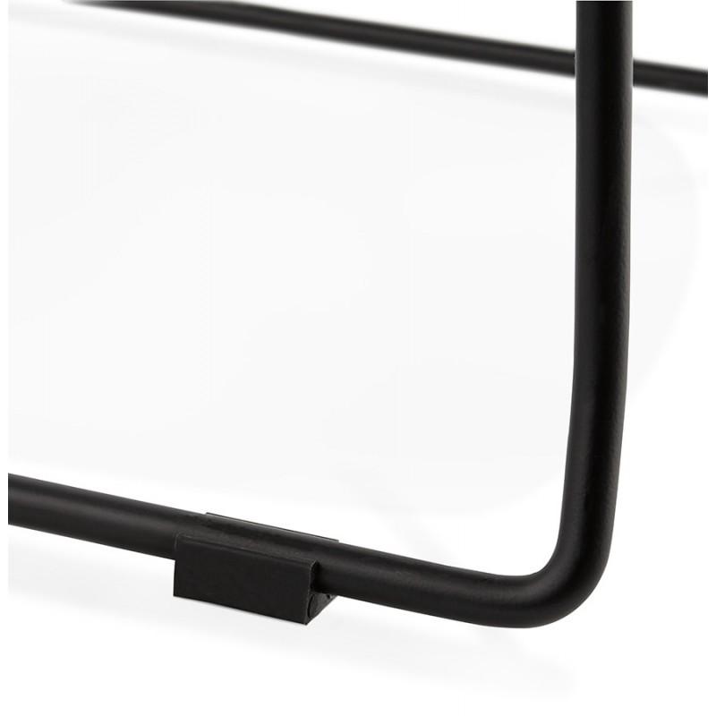 Chaise moderne empilable pieds métal noir ALIX (rose) - image 47895