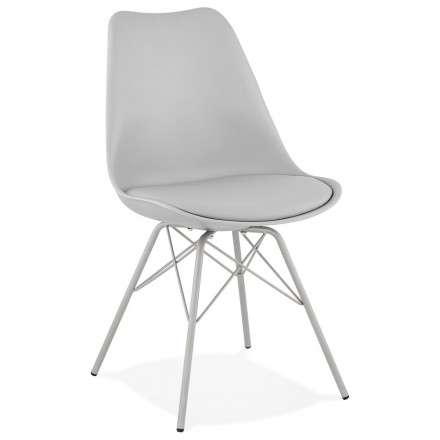SANDRO industrial style design chair (light grey)