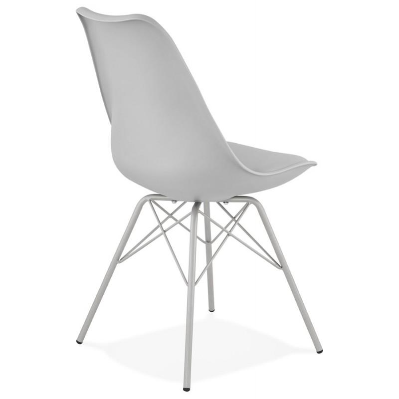 Chaise design style industriel SANDRO (gris clair) - image 47926