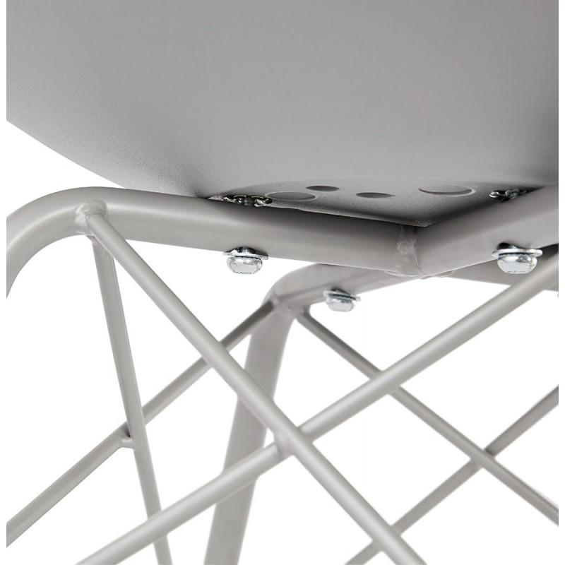 Chaise design style industriel SANDRO (gris clair) - image 47933