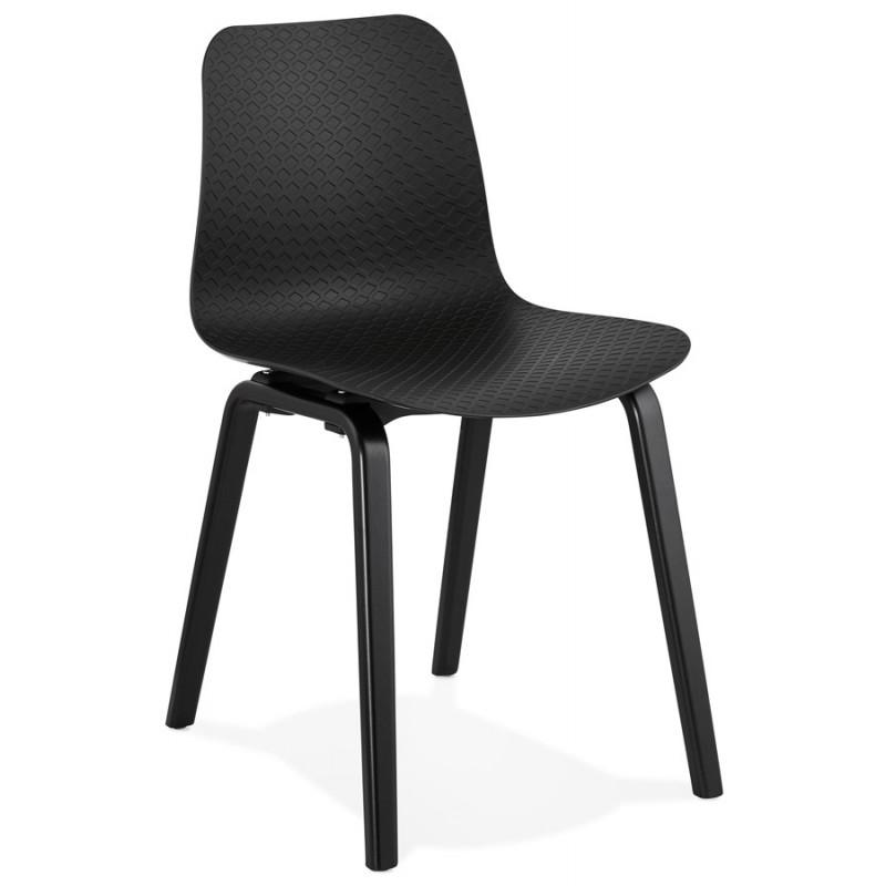 Silla de diseño de pie de madera negra sandy (negro) - image 47964