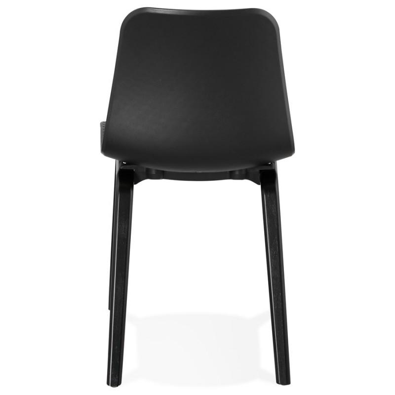 Chaise design pieds bois noir SANDY (noir) - image 47968