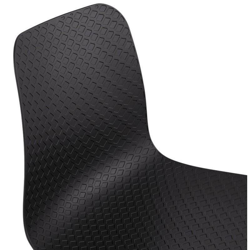 Chaise design pieds bois noir SANDY (noir) - image 47969
