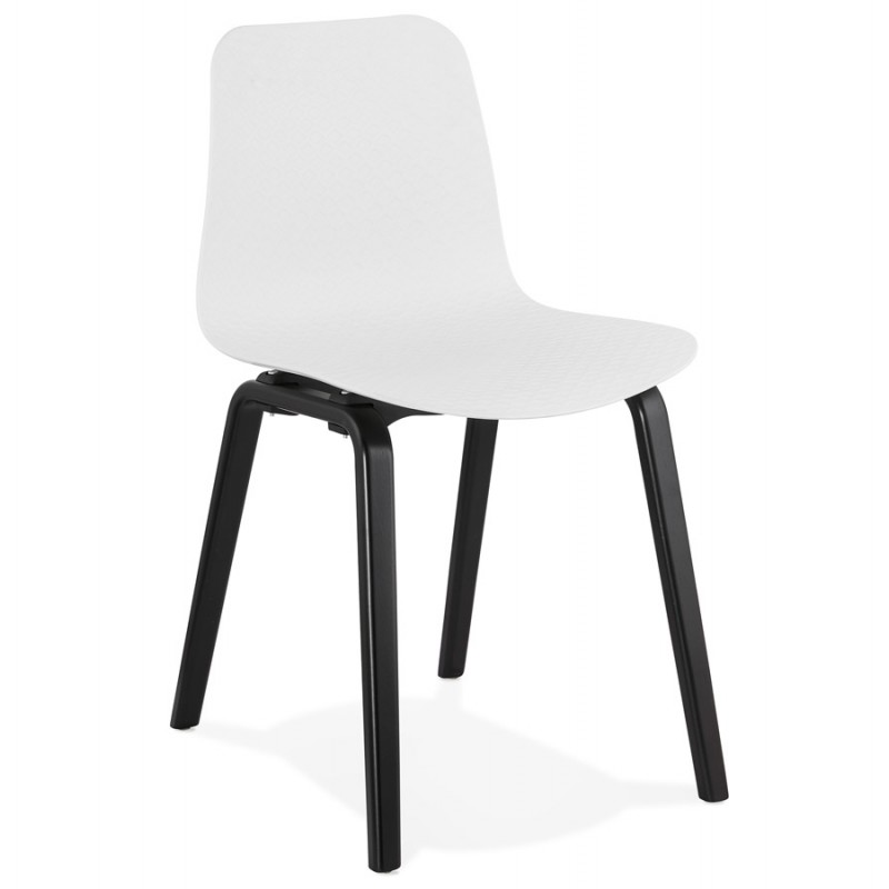 Sedia sandy nero in legno (bianco)