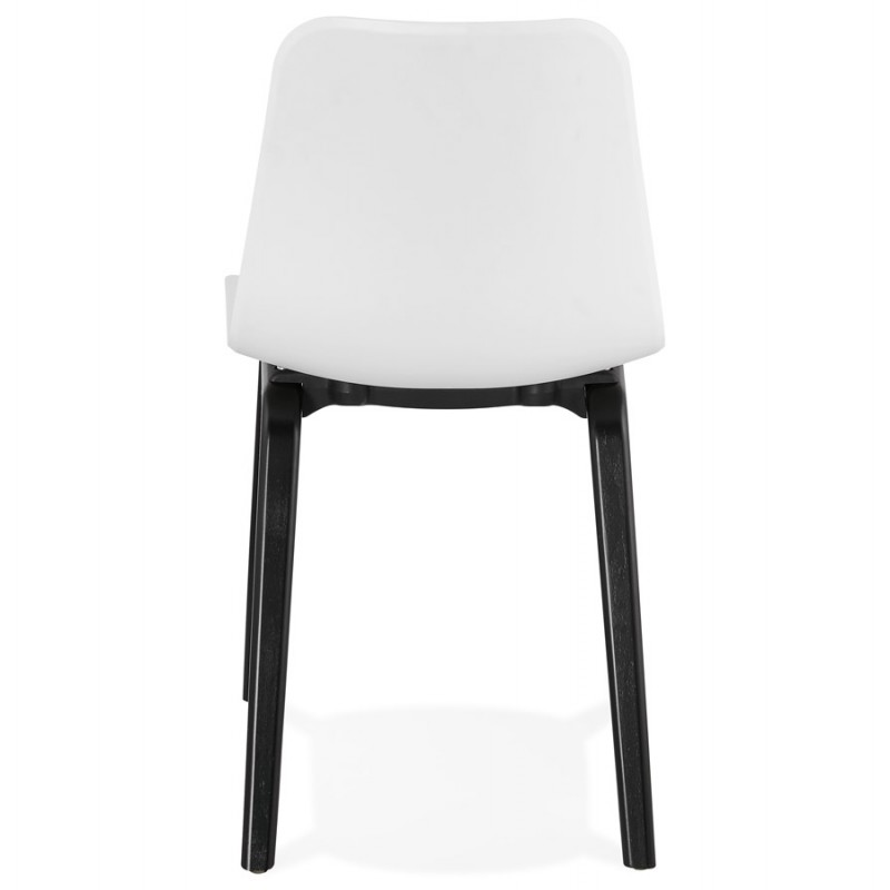 Sandy schwarz Holz Fuß Design Stuhl (weiß) - image 47983
