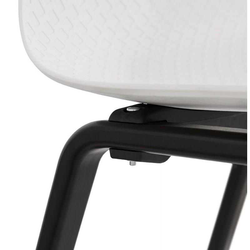 Sandy black wooden foot design chair (white) - image 47988