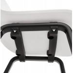 Sandy schwarz Holz Fuß Design Stuhl (weiß)