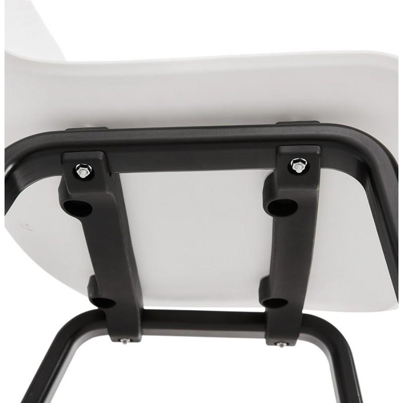 Sandy black wooden foot design chair (white) - image 47989