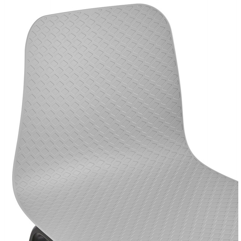 Chaise design pieds bois noir SANDY (gris clair) - image 47999