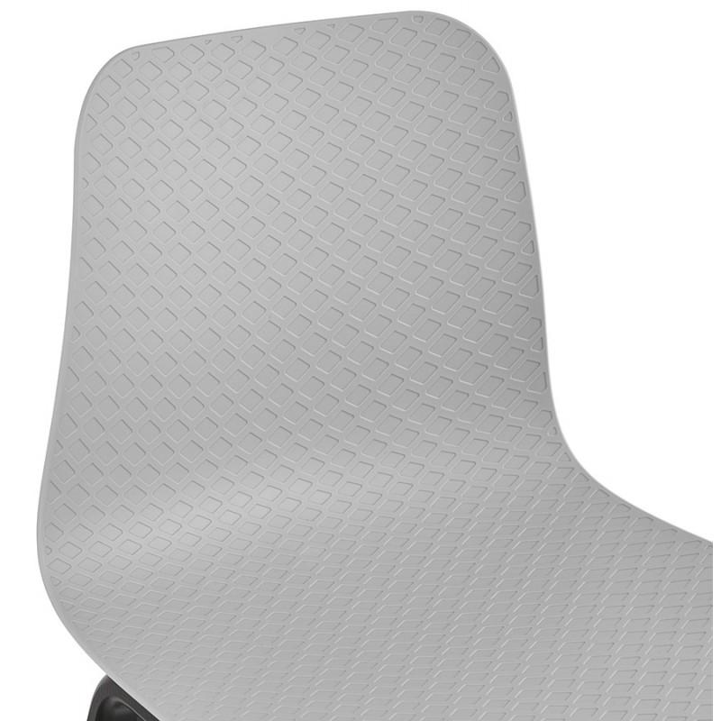 Silla de diseño de pie de madera negra sandy (gris claro) - image 47999