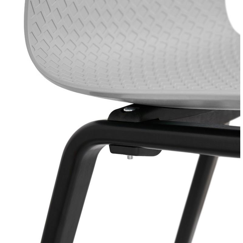 Silla de diseño de pie de madera negra sandy (gris claro) - image 48003
