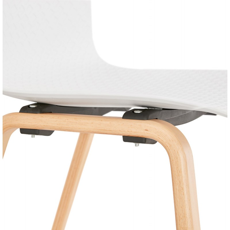 Sedia scandinava design piede in legno finitura naturale SANDY (bianco) - image 48017