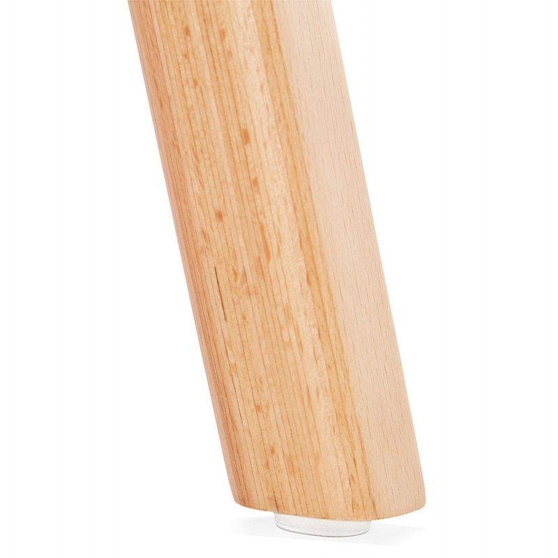 Chaise design scandinave pied bois finition naturelle SANDY (blanc) - image 48021