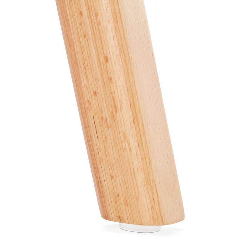Skandinavische Design Stuhl Holz Fuß natürliche Oberfläche SANDY (weiß) - image 48021
