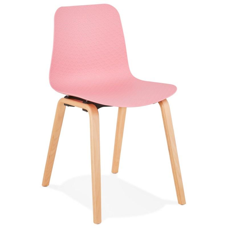 Skandinavische Design Stuhl Fuß Holz natürliche Oberfläche SANDY (rosa)