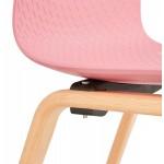 Scandinavian design chair foot wood natural finish SANDY (pink)