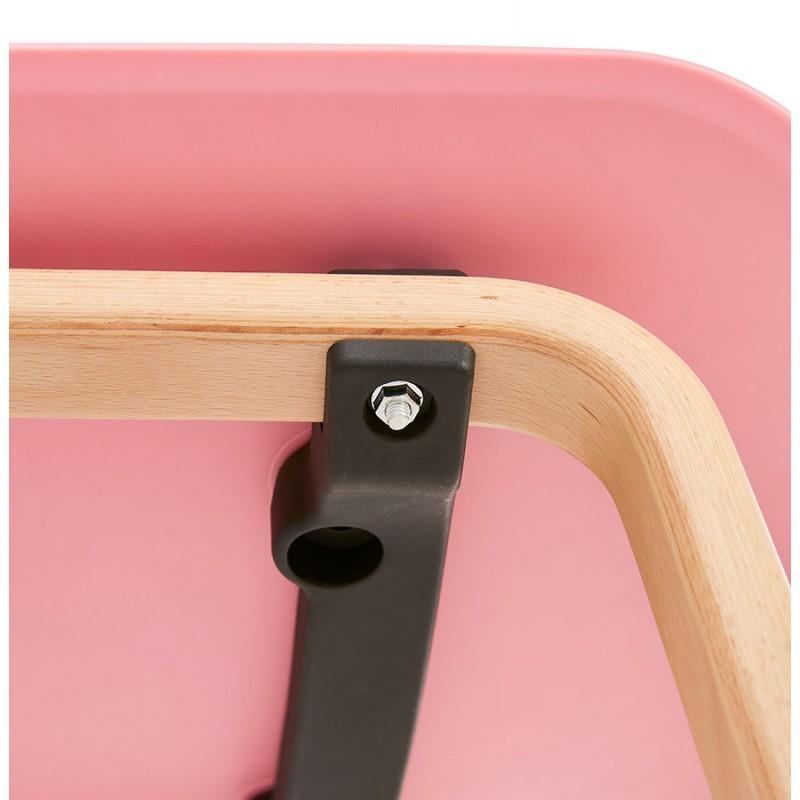 Silla de diseño escandinavo pie madera acabado natural SANDY (rosa) - image 48034