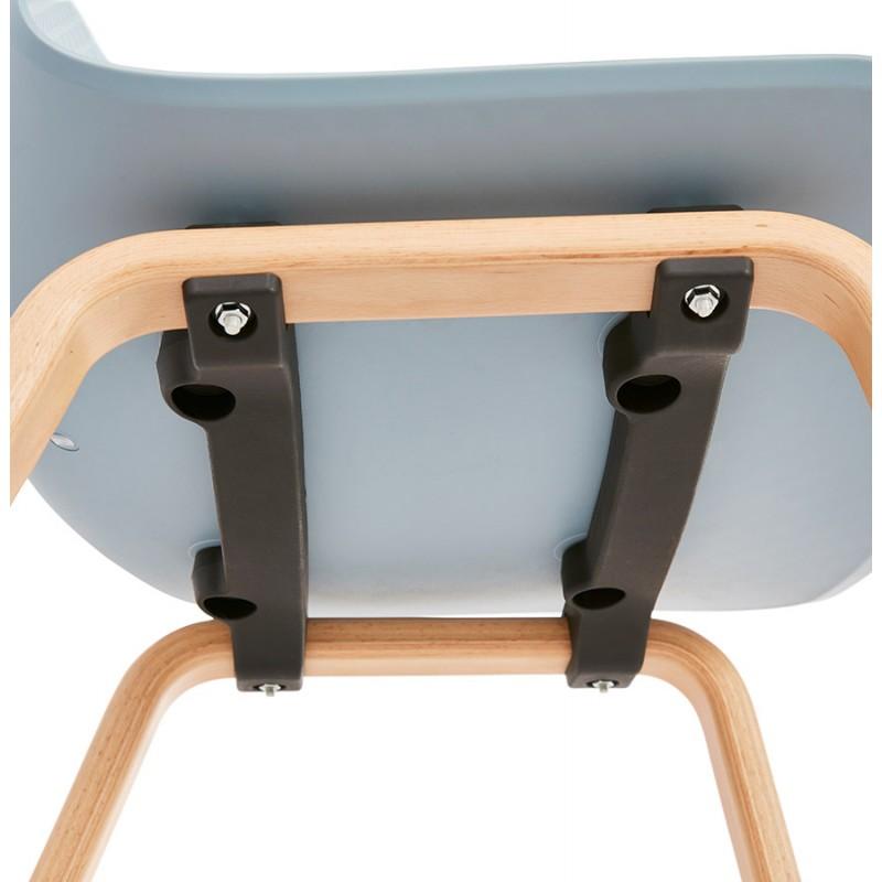 Silla de diseño escandinavo pie madera acabado natural SANDY (azul cielo) - image 48048