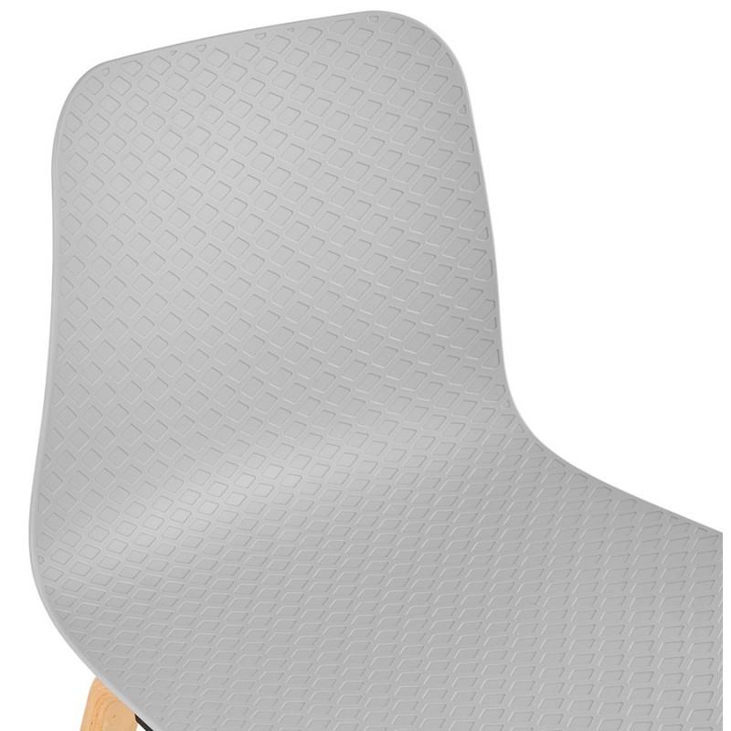 Chair design Scandinavian foot wood natural finish SANDY (light grey) - image 48058