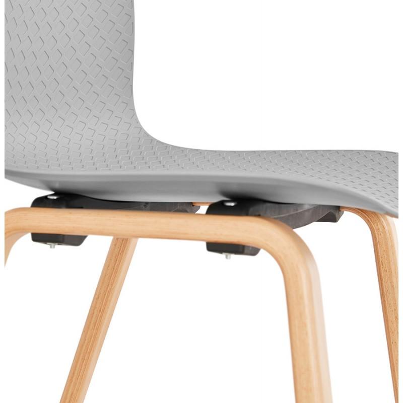 Stuhl Design skandinavischen Fuß Holz natürliche Oberfläche SANDY (hellgrau) - image 48061