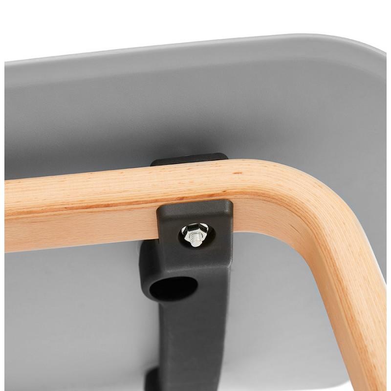 Stuhl Design skandinavischen Fuß Holz natürliche Oberfläche SANDY (hellgrau) - image 48064