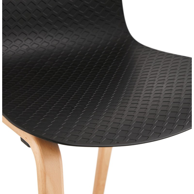 Chaise design scandinave pied bois finition naturelle SANDY (noir) - image 48075