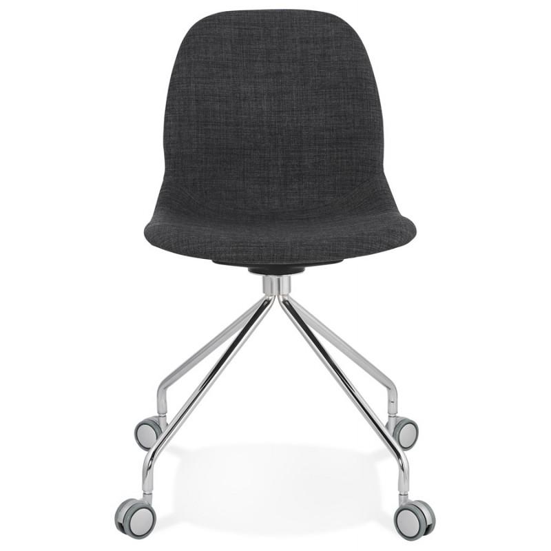 Chaise de bureau sur roulettes en tissu MARYA (gris anthracite) - image 48081