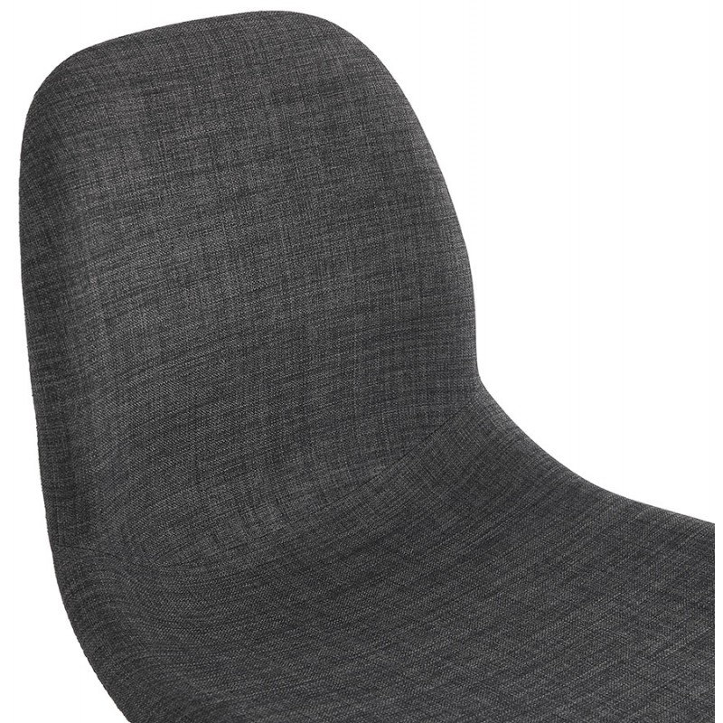 Design chair and Scandinavian fabric feet wood natural finish and black MASHA (anthracite grey) - image 48098