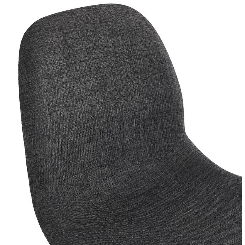Silla de diseño de tela de pie de metal negro MOUNA (gris antracita) - image 48111