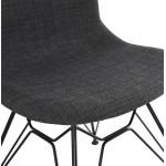 MOUNA schwarz Metall Fuß Stoff Design Stuhl (anthrazitgrau)