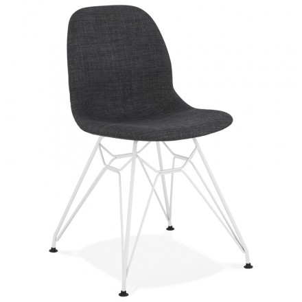 MOUNA white metal foot fabric design chair (anthracite grey)