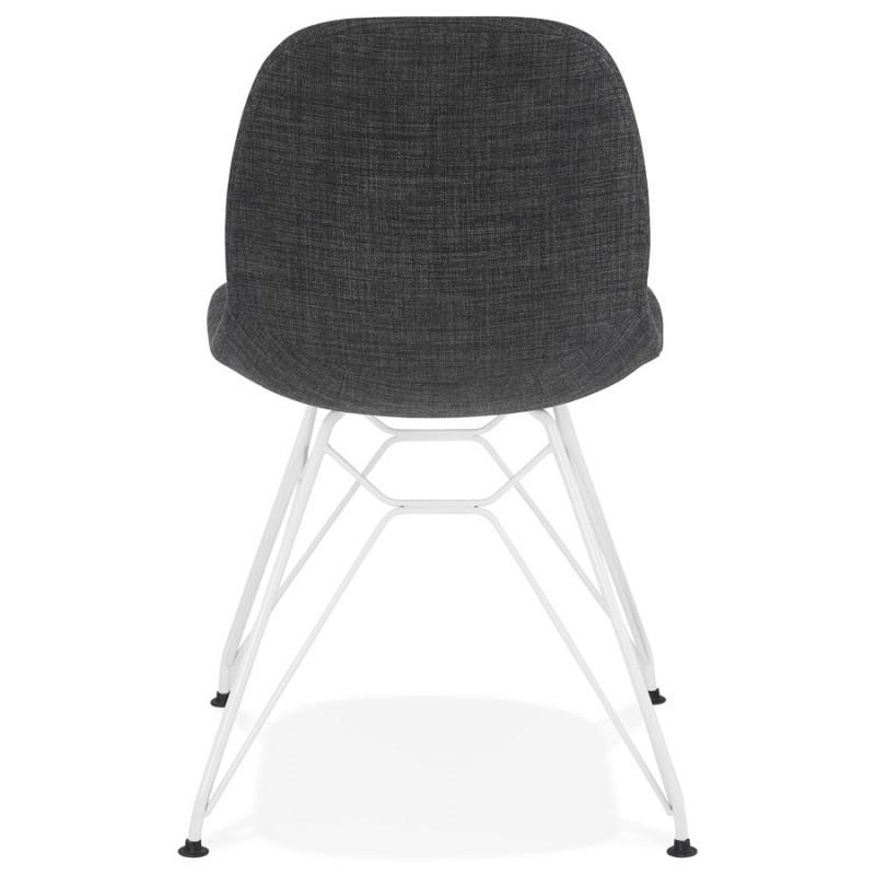 Sedia MOUNA in metallo tessuto in metallo (grigio antracite) - image 48136