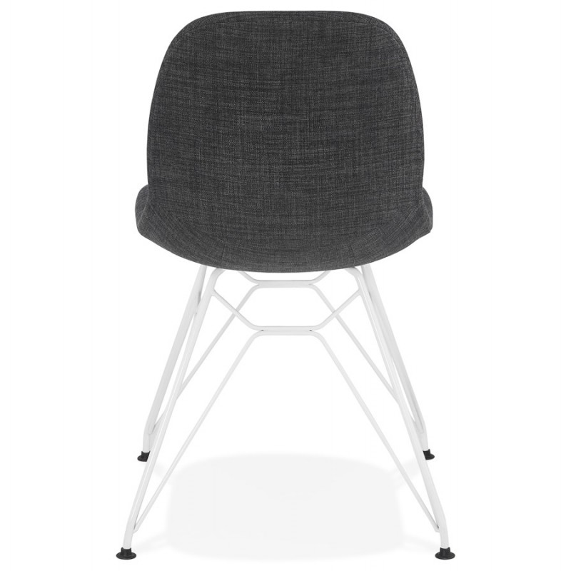 MOUNA weiß Metall Fuß Stoff Design Stuhl (anthrazitgrau) - image 48136