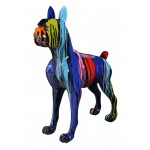 Statue decorative sculpture design CHIEN FUNNY in resin H152 cm (Multicolored)