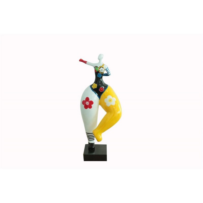 Statue sculpture décorative design FEMME POP ART en résine H68 cm (Multicolore) - image 48282