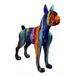 Statua disegno scultura decorativa CHIEN FUNNY in resina H152 cm (Multicolore)