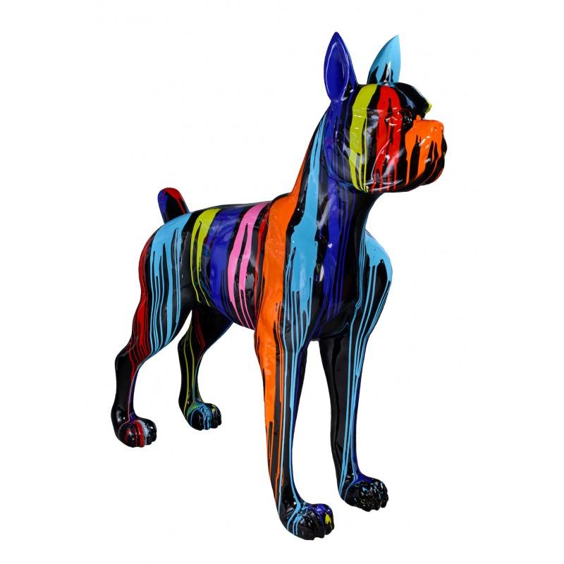Statue sculpture décorative design CHIEN FUNNY en résine H152 cm (Multicolore) - image 48313