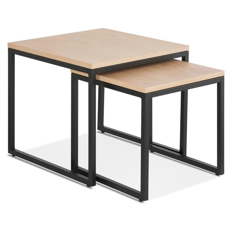 Tables gigognes en bois et métal noir PRESCILLIA (finition naturelle) - image 48353