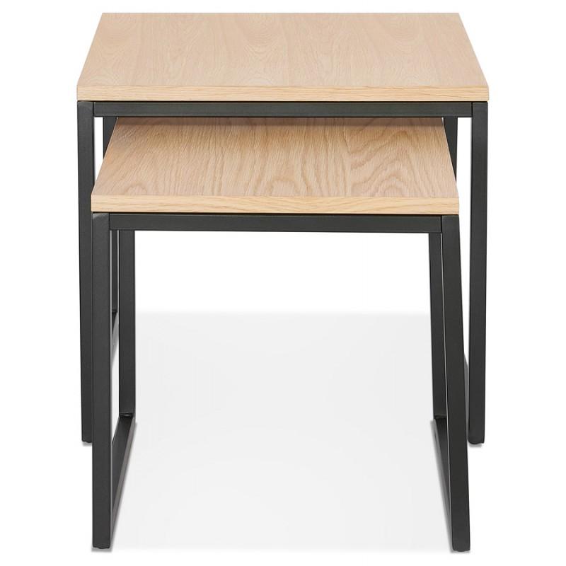 Tables gigognes en bois et métal noir PRESCILLIA (finition naturelle) - image 48354