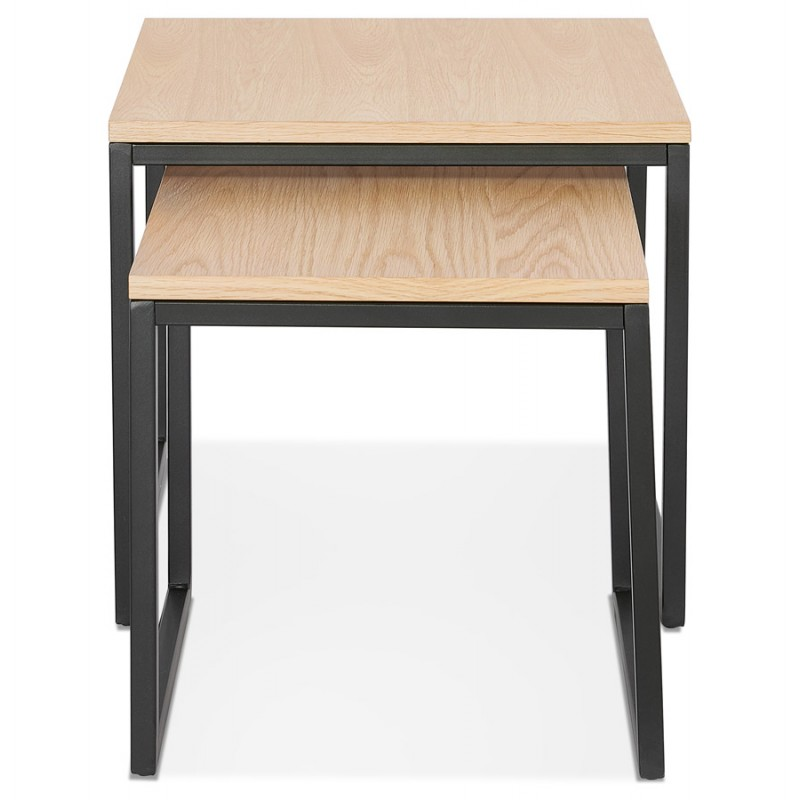 PRESCILLIA wooden and black metal tables (natural finish) - image 48354